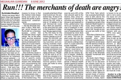 Run!!! The merchants of death and angry! Article by Prof. Arindam Chaudhuri, Meghalaya Guardian