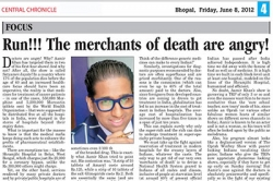 Run!!! The merchants of death and angry! Article by Prof. Arindam Chaudhuri, Central Chronicle