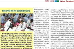 The event at Ciceros at 2012
