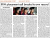 IIPM placement cell breaks its own record - Millennium Post - 24 July 2012